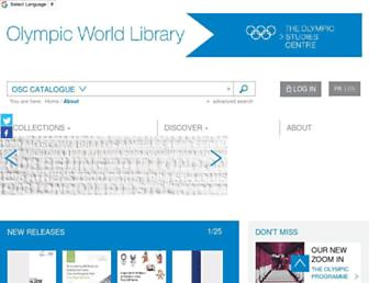 library.olympic.org screenshot