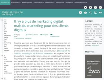 Main page screenshot of fredcavazza.net