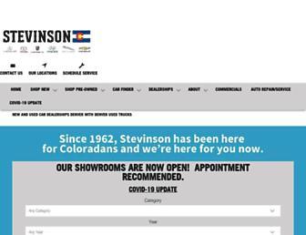 stevinsonauto.com screenshot