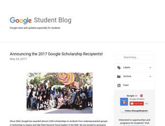 students.googleblog.com screenshot
