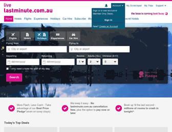 lastminute.com.au screenshot