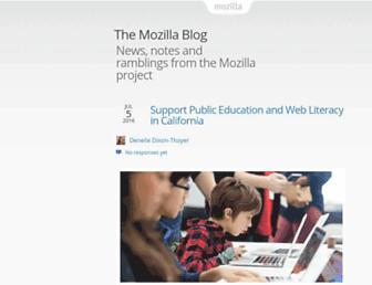 Main page screenshot of blog.mozilla.org