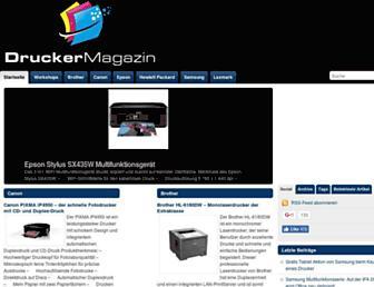 Main page screenshot of druckermagazin.de