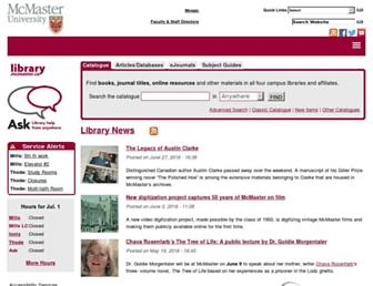 library.mcmaster.ca screenshot