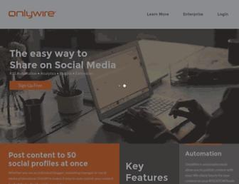 Thumbshot of Onlywire.com
