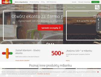 Main page screenshot of mbank.com.pl