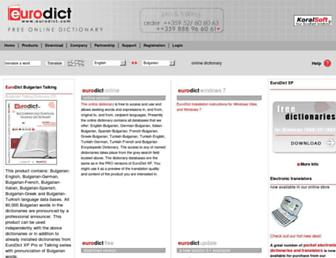 Thumbshot of Eurodict.com