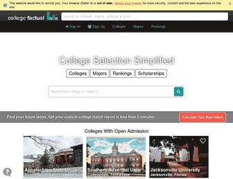 collegefactual.com screenshot