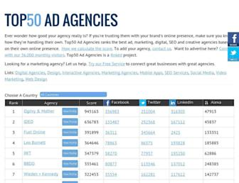 top50adagencies.com screenshot