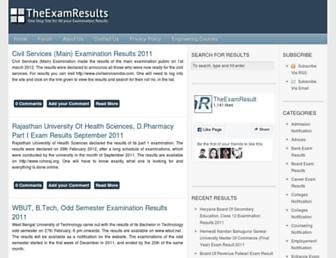 Thumbshot of Theexamresult.com