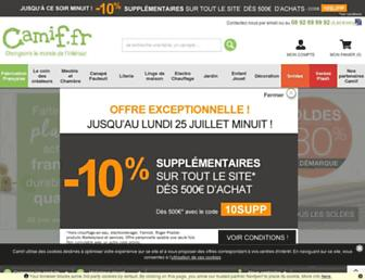 Fullscreen thumbnail of camif.fr