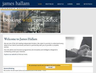 jameshallam.co.uk screenshot