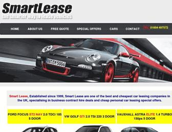 Main page screenshot of smartlease.co.uk