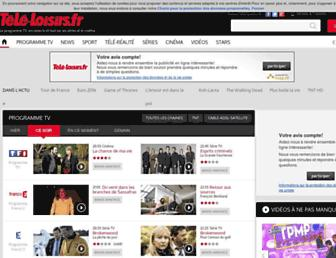 Main page screenshot of programme-tv.net