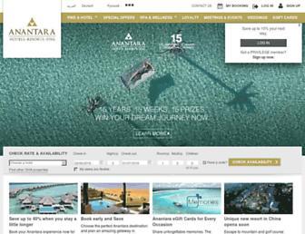 anantara.com screenshot