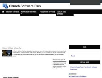church-software-plus.com screenshot