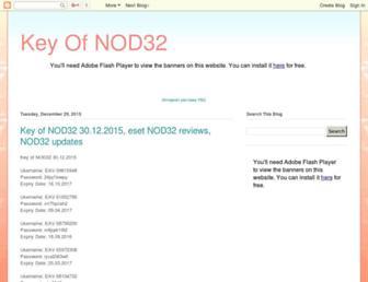 key-of-nod32.blogspot.com screenshot
