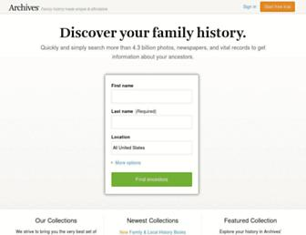 Thumbshot of Archives.com