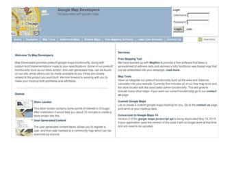 mapdevelopers.com screenshot