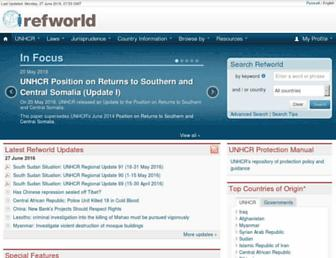 refworld.org screenshot
