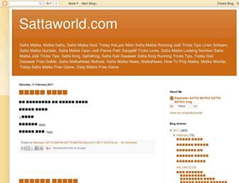 sattaworld.blogspot.com screenshot