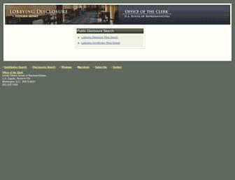 Main page screenshot of disclosures.house.gov