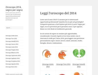 Thumbshot of Oroscopo2014.org