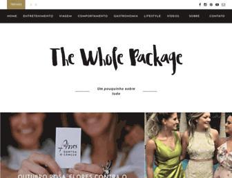 thewholepackage.com.br screenshot