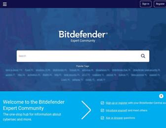 community.bitdefender.com screenshot