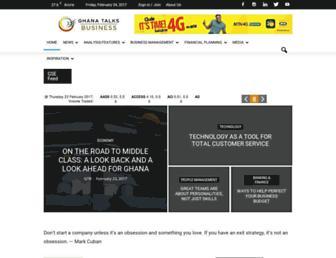 ghanatalksbusiness.com screenshot
