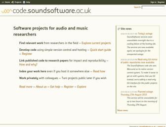 code.soundsoftware.ac.uk screenshot