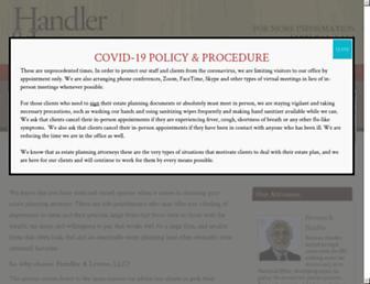 handlerlevine.com screenshot