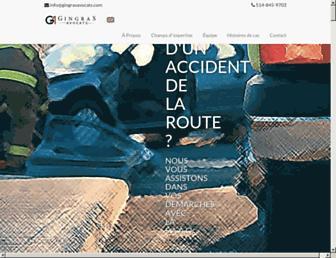 gingrasavocats.com screenshot