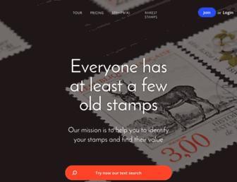findyourstampsvalue.com screenshot