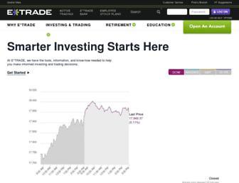 us.etrade.com screenshot