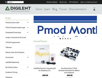 digilentinc.com screenshot