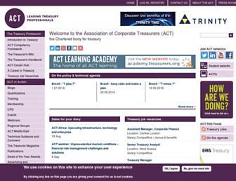 treasurers.org screenshot
