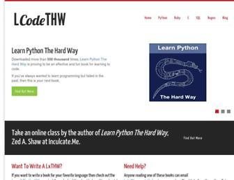 Thumbshot of Learncodethehardway.org