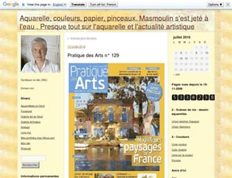 Main page screenshot of masmoulin.blog.lemonde.fr