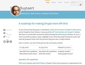 Main page screenshot of buytaert.net