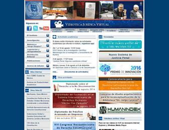 Main page screenshot of juridicas.unam.mx