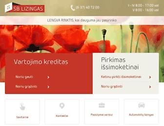 Main page screenshot of ubl.lt