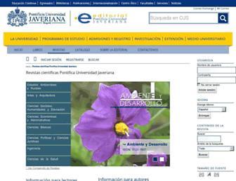revistas.javeriana.edu.co screenshot