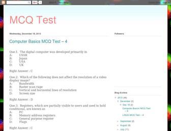 mcqtestanswers.blogspot.com screenshot