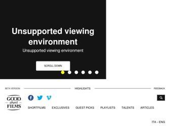 goodshortfilms.it screenshot