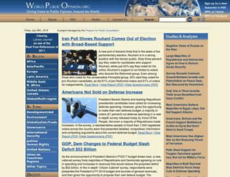 Main page screenshot of worldpublicopinion.org