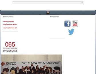 cruzrojaestadodemexico.org.mx screenshot