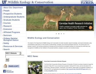 wec.ufl.edu screenshot