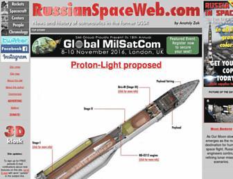 russianspaceweb.com screenshot