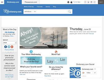 dictionary.reference.com screenshot